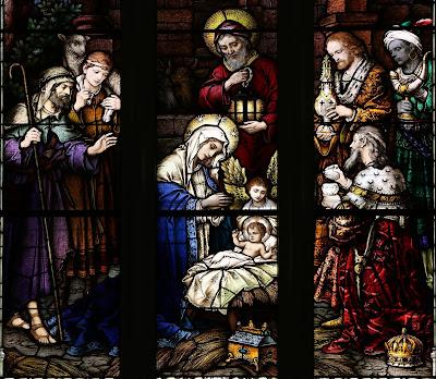 Imagem do Nascimento de Jesus, vitral, #4
