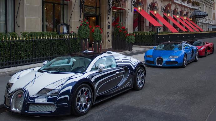 Wallpaper: Cars Bugatti and Ferrari