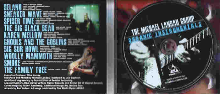 MICHAEL LANDAU - Organic Instrumentals [Digipak] disc