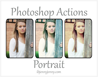 FREE PHOTOSHOP PORTRAIT ACTIONS PLUS OVERLAYS