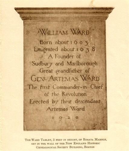 Miller-Anderson Histories: WILLIAM WARD 1603-1687
