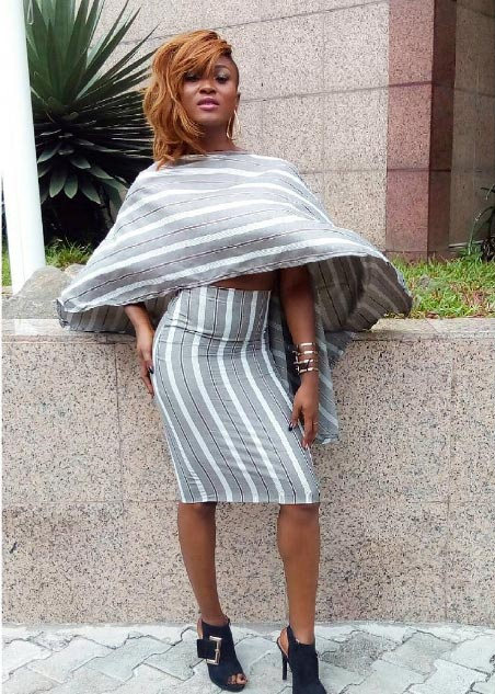 Female rapper Eva Alordiah sew this beautiful dress herself