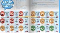Logo Buoni sconto fino al 40% da ritagliare su Volantino : scegli tu come risparmiare
