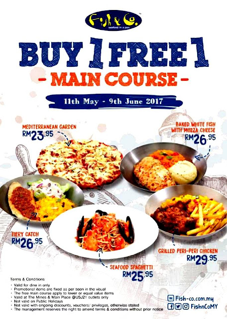 FISH & CO Seafood In A Pan BUY 1 FREE 1 MAIN COURSE Promotion 11th May To 9th June 2017