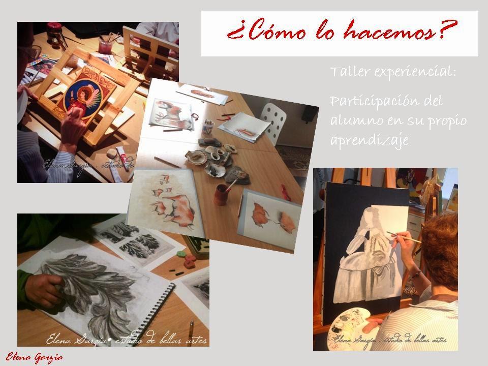 Talleres y clases de arte y pintura para adultos. Elena Garzia Estudio.