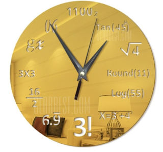 DIY Math Equation Acrylic Mirror Wall Stickers Wall Clock Stickers