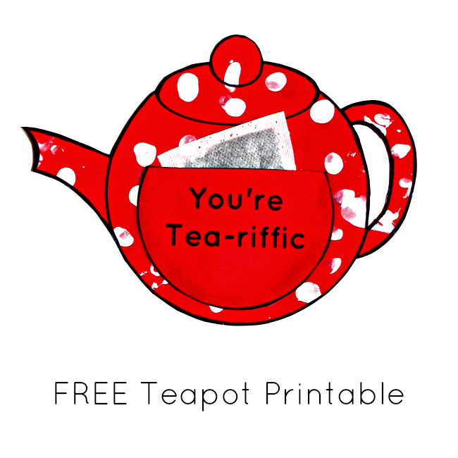 Fingerprint teapot craft FREE PRINTABLE
