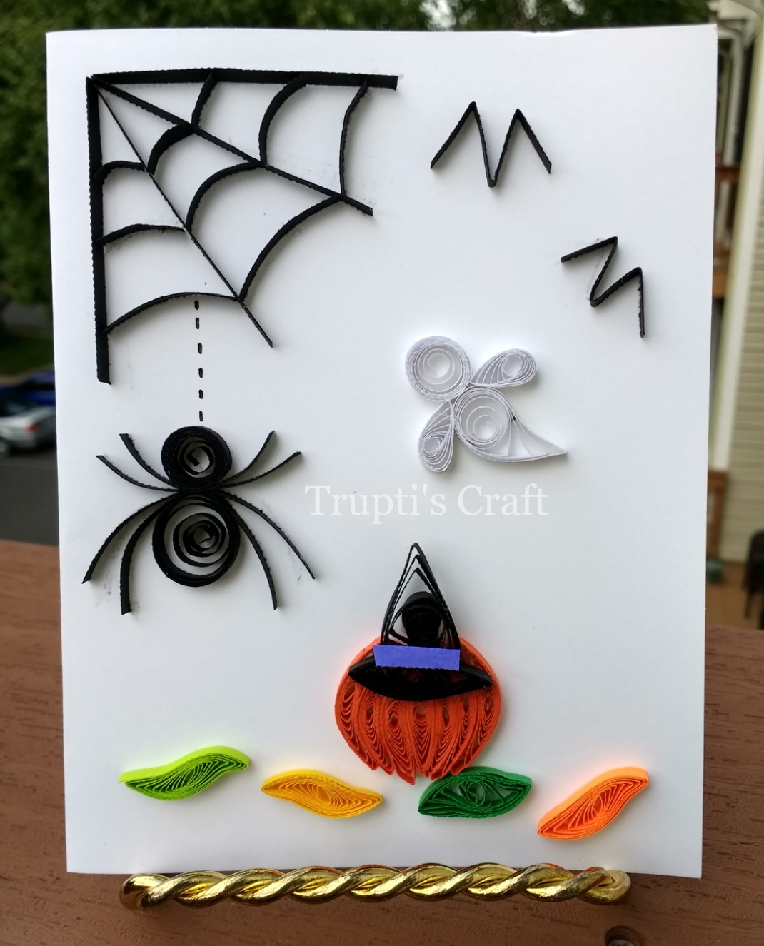Trupti\'s Craft: Paper Quilling Halloween Card / Wall Frame / Wall ...