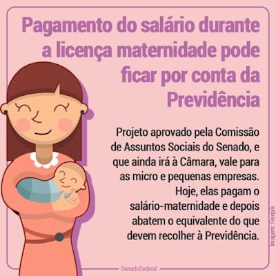 O salário-maternidade poderá ser pago pela Previdência 1