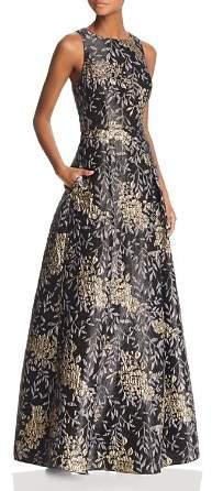 Aidan Mattox Floral Jacquard Ball Gown - 100% Exclusive