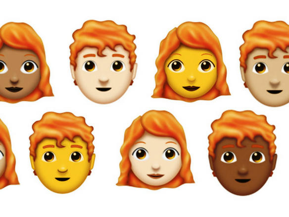 Emoji redheads with Unicode Emoji 11.0 will be released this week