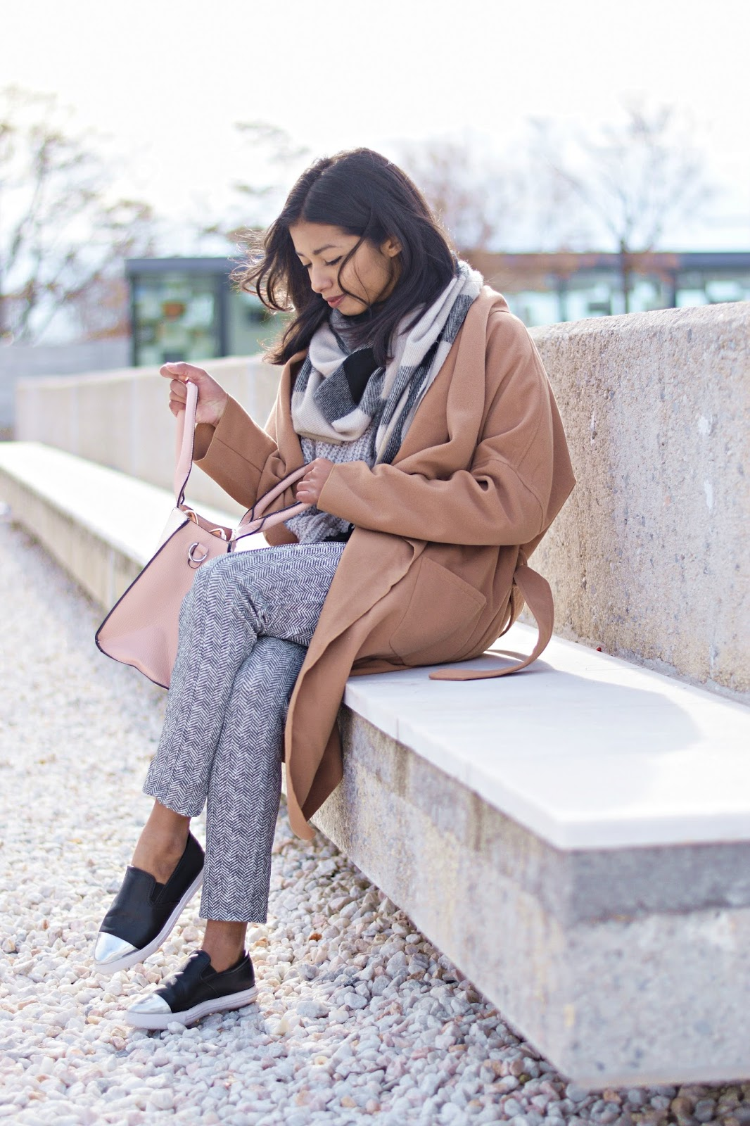 how to style camel coat