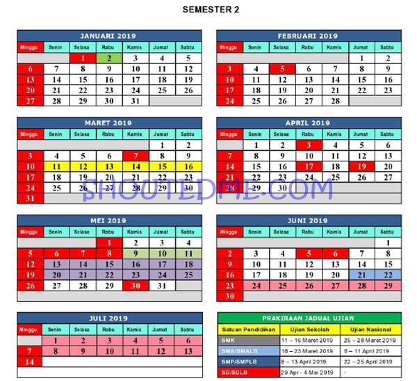 kalender pendidikan jawa barat 2019