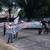 Servidores da saúde protestam na av. Salgado Filho
