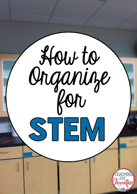 STEM class uses a great variety of materials and these are stored and used repeatedly. Here's a great blog post giving you some ideas for organizing those materials!