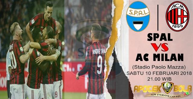 Prediksi SPAL 2013 vs AC Milan 10 Februari 2018