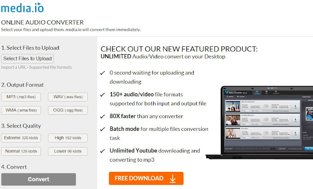 media.io best free online converter to convert mp4 flv avi files to mp3 without any software