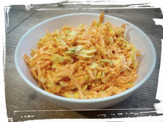 Surowka z marcheki z porem surowka z majonezem surowka do obiadu prosta surowka z dwoch skladnikow