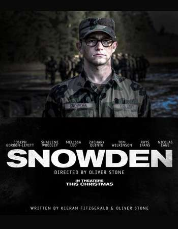 Poster Of Snowden 2016 English 550MB BRRip 720p ESubs HEVC Free Download Watch Online downloadhub.in