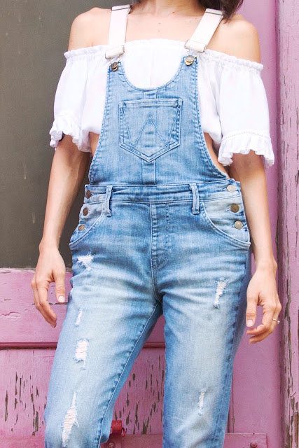 distressed and tailored overalls offer an updated take on them