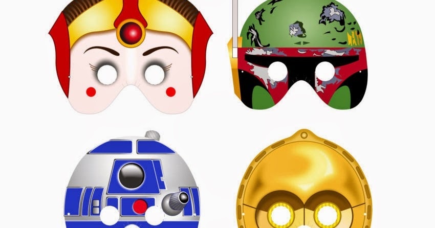 photograph regarding Star Wars Printable Mask named Star Wars Free of charge Printable Masks. - Oh My Fiesta! within english
