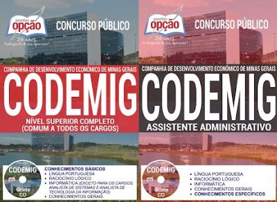 Apostila Codemig 2017: Nível Superior e Assistente Administrativo