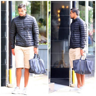 , Hilarious! Man United/Argentina Goalkeeper Sergio Romero holds wife's handbag as they go shopping, Latest Nigeria News, Daily Devotionals & Celebrity Gossips - Chidispalace
