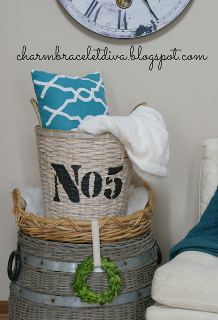 basket storage for blankets and pillows