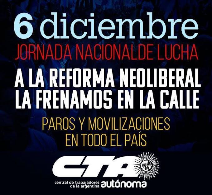 La CTA Autónoma Tucumán contra la reforma laboral