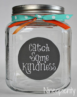 Catch Some Kindness, I love the positive tone of this jar.  It was designed by a mom to use in her home, but I think it would be perfect in any classroom.  We all need to share a little kindness.