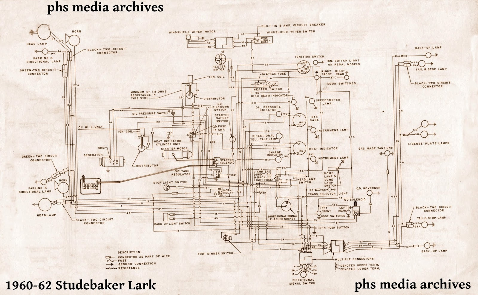 tech series studebaker lark cruiser wiring diagrams 1950 studebaker champion turn signal circuit diagram shown here [ 1600 x 988 Pixel ]