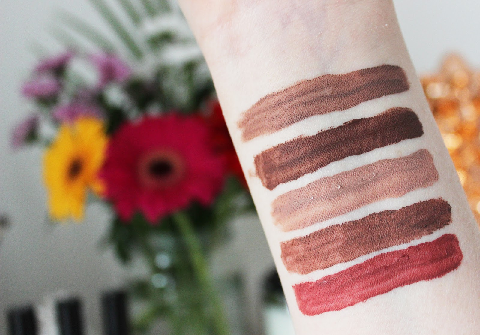 NYX lip lingerie liquid lipsticks swatches