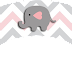 Baby Elephant in Grey and Pink Chevron: Free Printable Wrappers and Toppers.
