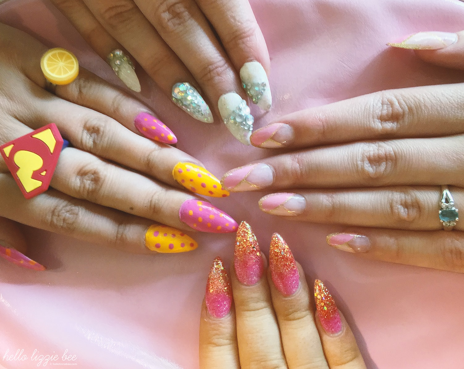 gyaru false nails