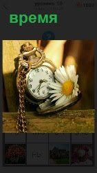 на столе стоит будильник и показывает время