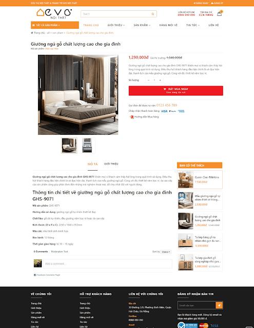 Template blogspot bán hàng nội thất cao cấp - Giaodienblog.com