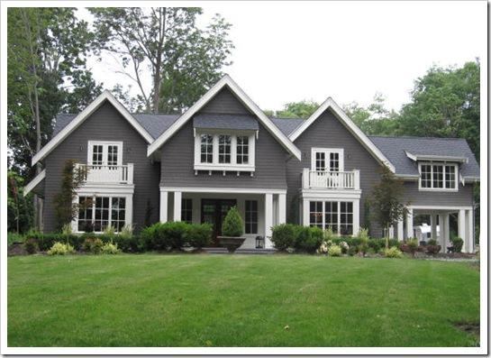 Dark Gray Painted Brick House