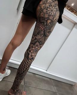 gambar tato keren di kaki full