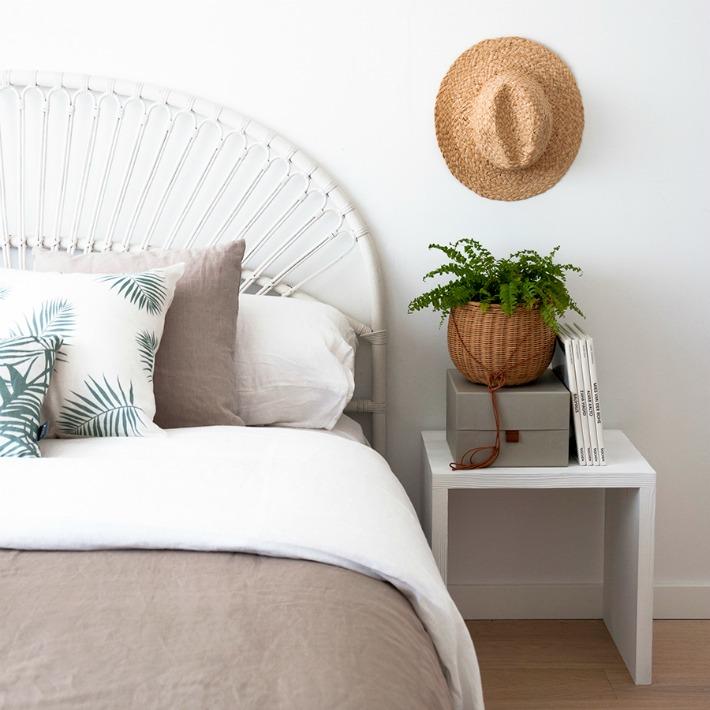 10 ideas para incorporar el rattan en el dormitorio