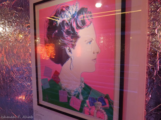 A painting of Queen Margrethe of Denmark by Andy Warhol