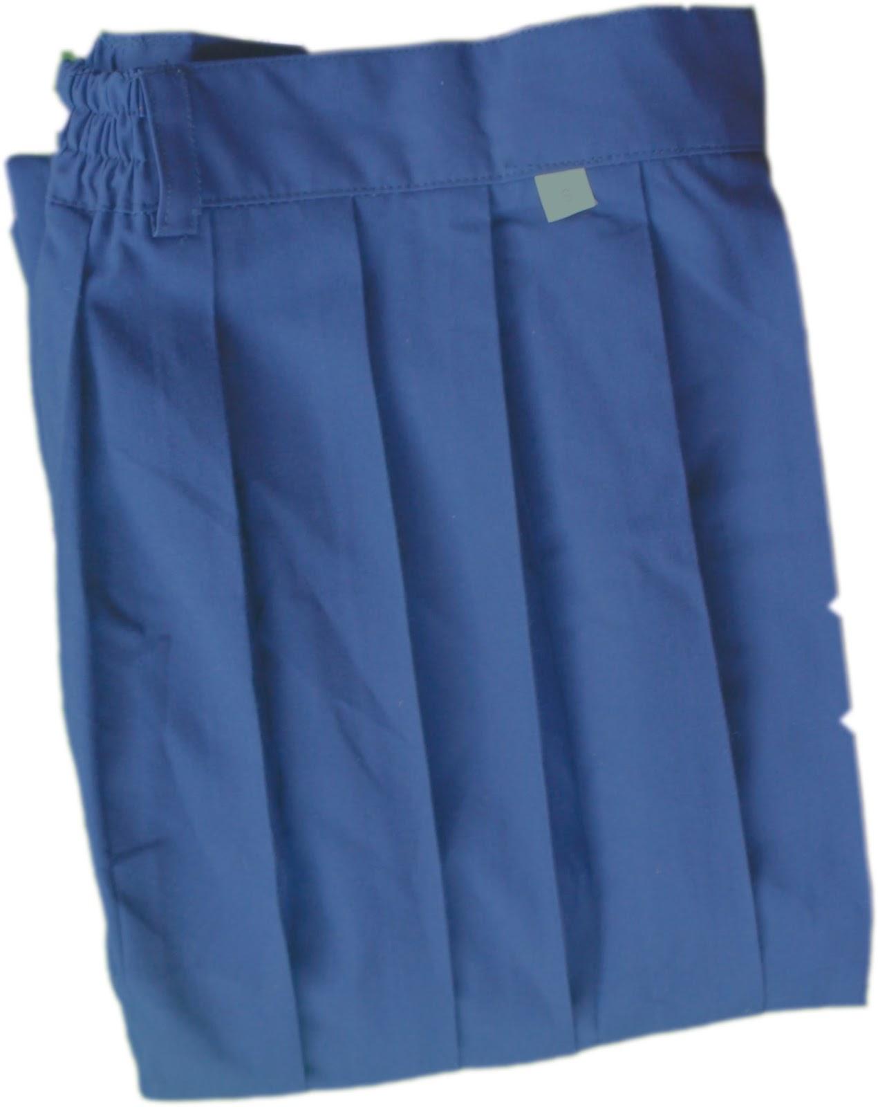 rok panjang biru smp uk L,L2