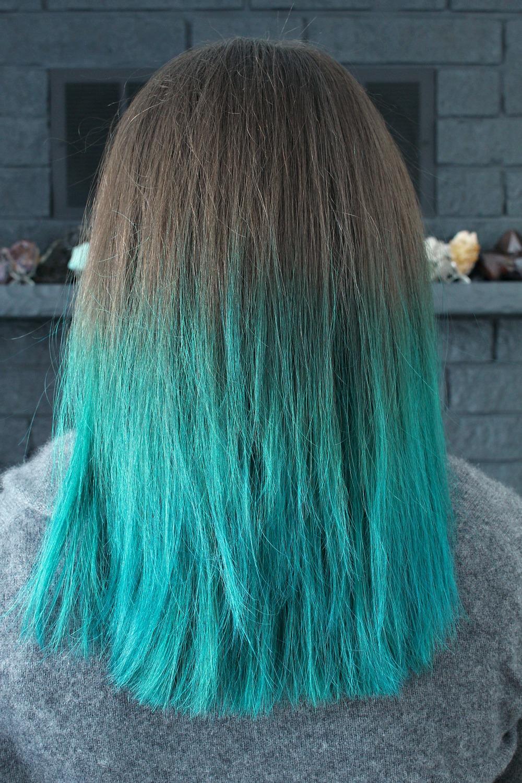 Manic Panic Amplified VooDoo Blue Color // Turquoise Dip Dyed Hair // Mermaid Hair