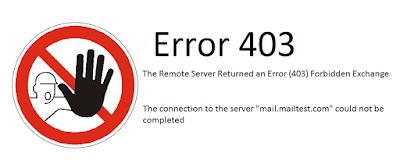 The Remote Server Returned an Error (403) Forbidden Exchange 2010