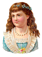 child girl antique stock image clipart digital download illustration
