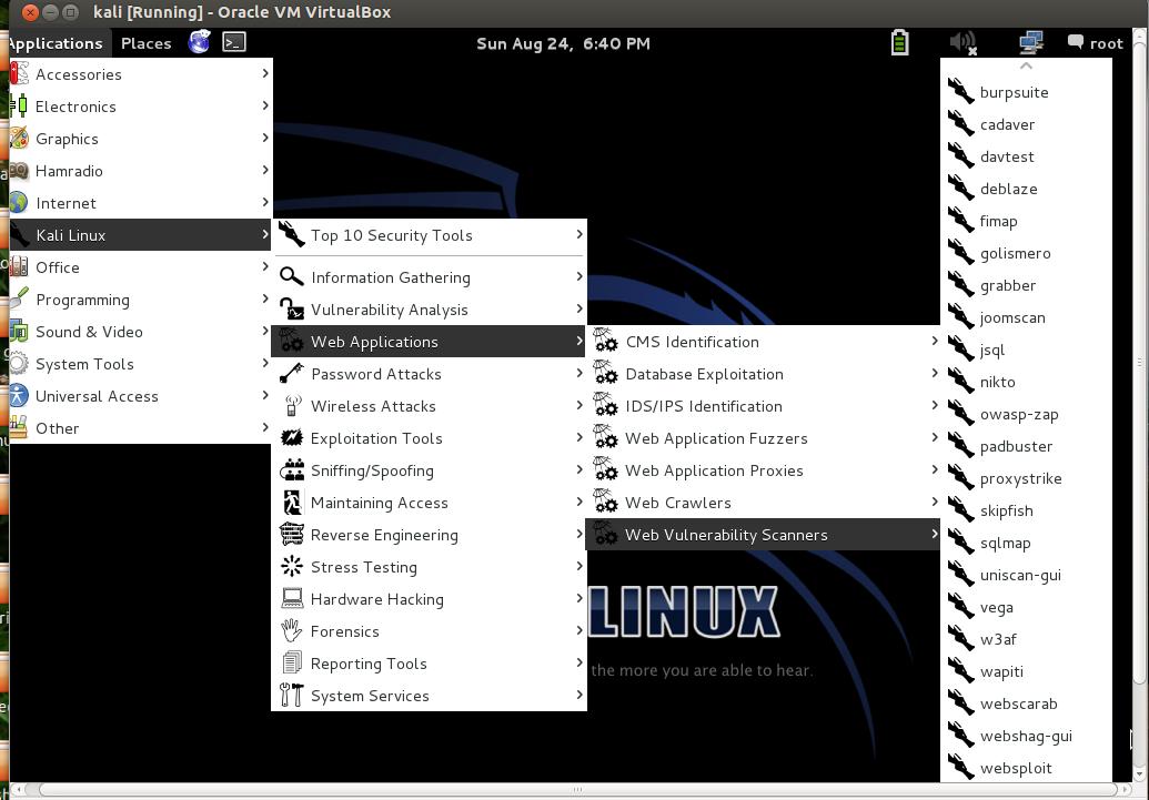 MELIORATE: WEBSHAG : Scan a Web server@Kali Linux