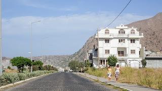 Women in Cape Verde walking