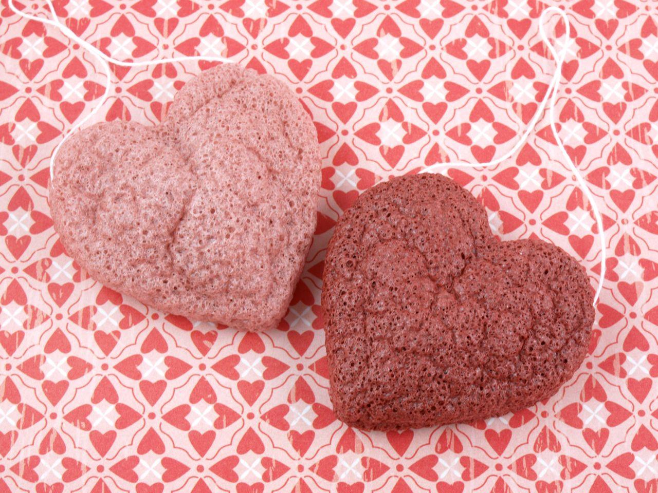 Sephora Clean Machine Konjac Sponge Duo Love Me Pink And Red Clay