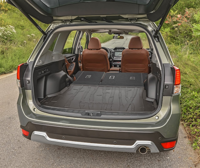 Rear view of 2019 Subaru Forester Touring