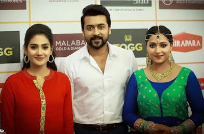 Surya-At-Amma-Mazhavillu-Film-Awards-with-malayalam-actress-Pics