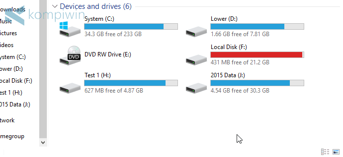 bikin partisi baru di laptop pc komputer